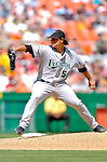 5 September 2005: Jason Vargas, top prospect pitcher for the Florida Marlins, on the mound during a game against the Washington Nationals. The Nationals defeated the Marlins 5-2 at RFK Stadium in Washington, DC. Mandatory Photo Credit: Ed Wolfstein.