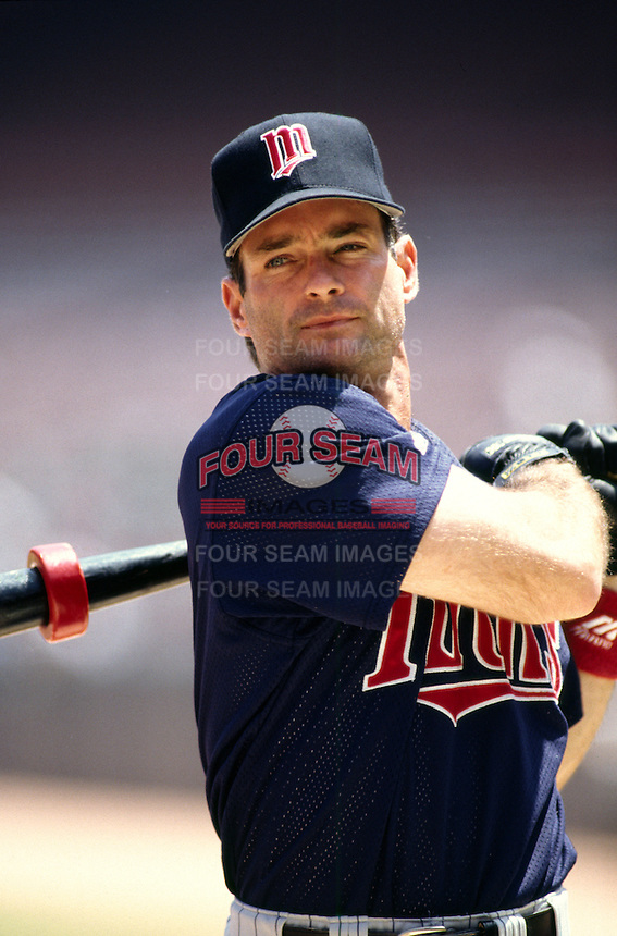 Paul Molitor of the Minnesota Twins at Anaheim Stadium in Anaheim,California during the 1996 season. (Larry Goren/Four Seam Images)