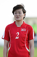 20190227 - LARNACA , CYPRUS : North Korean midfielder Ri Un-yong pictured during a women's soccer game between Korea DPR and Czech Republic , on Wednesday 27 February 2019 at the GSZ Stadium in Larnaca , Cyprus . This is the first game in group A for both teams during the Cyprus Womens Cup 2019 , a prestigious women soccer tournament as a preparation on the Uefa Women's Euro 2021 qualification duels and the Fifa World Cup France 2019. PHOTO SPORTPIX.BE | STIJN AUDOOREN