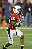 January 5th, 2008:  Ball State receiver Dante Love (86) fields a kick during the fourth quarter of the International Bowl at the Rogers Centre in Toronto, Ontario Canada...Rutgers defeated Ball State 52-30.  ..Photo By:  Mike Janes Photography