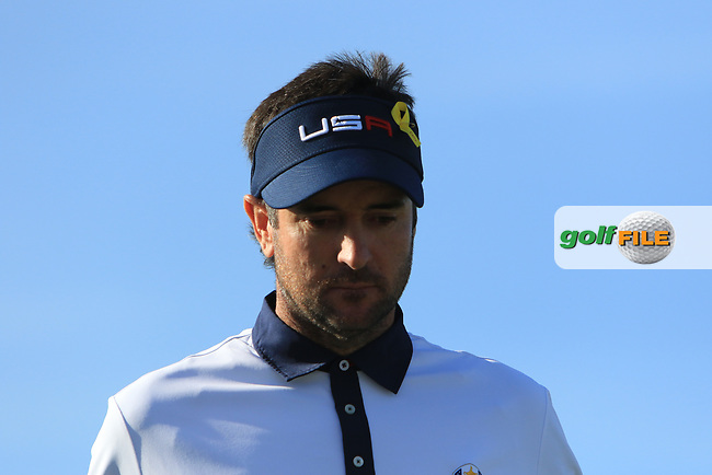 Bubba Watson (Team USA) on the 11th tee during Saturday Foursomes at the Ryder Cup, Le Golf National, Ile-de-France, France. 29/09/2018.<br /> Picture Thos Caffrey / Golffile.ie<br /> <br /> All photo usage must carry mandatory copyright credit (© Golffile | Thos Caffrey)