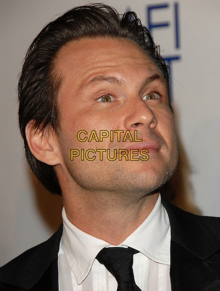 "CHRISTIAN SLATER.The AFI Fest Opening Night Gala & The Weinstein Company USA Premiere of ""Bobby"" held at The Grauman's Chinese Theatre in Hollywood, California, USA..November 1st, 2006                                                             .Ref: DVS.headshot portrait.www.capitalpictures.com.sales@capitalpictures.com.©Debbie VanStory/Capital Pictures"