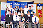 CEREMONY: The Lee Strand Kerry Garda achievement awards winners at the Ballyroe Heights hotel, Tralee on Friday seated l-r: John O'Sullivan (general manager Lee Strand), Assistant Commissioner Tony Quilter, Edel O'Shea, Killorglin (overall winner), Brendan Walsh (chairman Lee Strand) and Chief Superintendent Pat Sullivan. Back l-r: Caitriona Lynos (sister of Philip Lyons, Farranfore distinction award winner),  Superintendent Flor Murphy, Patrick McCarthy, Kilgarvin distinction award winner), Inspector Donal Ashe, Michaela Heaslip, Tralee (distinction award winner), Superintendent James O'Connor and Gerard Mulvihill, Listowel (distinction award winner).