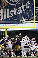 Stanford kicker Collin Riccitelli kicked this crucial extra point wide right in the fourth quarter.