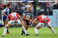 Tom Dunn of Bath Rugby in possession. Gallagher Premiership match, between Bath Rugby and Gloucester Rugby on September 8, 2018 at the Recreation Ground in Bath, England. Photo by: Patrick Khachfe / Onside Images