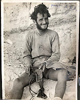 BNPS.co.uk (01202 558833)<br /> Pic: Bosleys/BNPS<br /> <br /> Unknown 1st SAS trooper in North Africa<br /> <br /> Sold for £25,000 - An extraordinary wartime archive that lift's the veil on the earliest days of the SAS during WW2.<br /> <br /> The late Fred Casey was among the original dozen members of the 1st Special Air Service that was formed in North Africa to wreak havoc behind enemy lines.<br /> <br /> The commando's military possessions included a remarkable album containing previously unseen images of the founding members of the elite force.<br /> <br /> Legendary Captain David Stirling, who formed the 'Who Dares Wins' regiment, and hand-picked the men under his command, is pictured along with his controversial deputy Paddy Mayne , who took over the top secret regiment after Stirling's capture.<br /> <br /> The album sold at Bosley's Auctioneers of Marlow, Bucks, last week for over five times its pre-sale estimate..