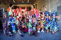 The Costume Catwalk winners on day two of the 2016 HSBC Wellington Sevens at Westpac Stadium, Wellington, New Zealand on Sunday, 31 January 2016. Photo: Dave Lintott / lintottphoto.co.nz