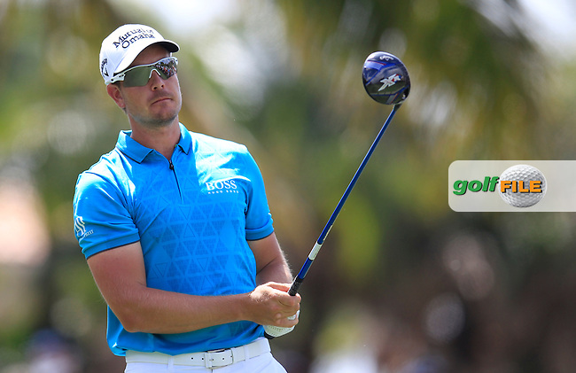 Henrik Stenson (SWE) during the 1st round at the WGC Cadillac Championship, Blue Monster, Trump National Doral, Doral, Florida, USA<br /> Picture: Fran Caffrey / Golffile