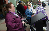Michael McCollum<br /> 4/8/18<br /> Victims of violence family, friends, and guests interact at the HOPE Remembrance Ceremony held at Volunteer Landing, Knoxville Tennessee, Sunday April 8th, 2018. This also kicks off National Crime Victims Rights Week 2018.<br /> HOPE for victims is a nonprofit organization dedicated to supporting victims of homicide.