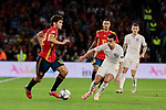 Spain's Marcos Alonso and England's Harry Winks during UEFA Nations League 2019 match between Spain and England at Benito Villamarin stadium in Sevilla, Spain. October 15, 2018. (ALTERPHOTOS/A. Perez Meca)
