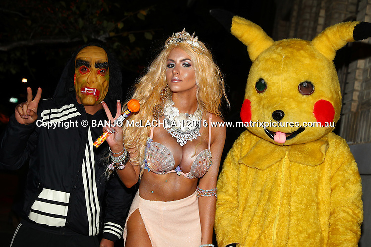 Gabi Grecko parades around the West Village Wearing a Mermaid outfit for Halloween, NYC 31 OCTOBER 2016 WEST VILLAGE NY USA<br /> WWW.MATRIXPICTURES.COM.AU<br /> <br /> EXCLUSIVE PICTURES<br /> <br /> Gabi Grecko parades around the West Village Wearing a Mermaid outfit for Halloween.