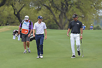 Justin Thomas (USA) and Bubba Watson (USA) walk down 6 during day 5 of the World Golf Championships, Dell Match Play, Austin Country Club, Austin, Texas. 3/25/2018.<br /> Picture: Golffile | Ken Murray<br /> <br /> <br /> All photo usage must carry mandatory copyright credit (&copy; Golffile | Ken Murray)