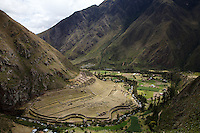 Near km 82 at the start of the Inca Trail hike, viewed from above.