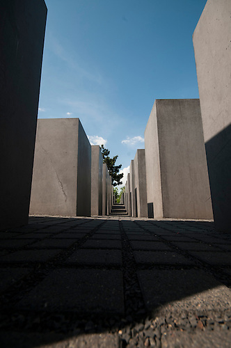 Middle of Berlin, in the middle of summer, 2012<br /> The Memorial to the Murdered Jews of Europe, also known as the Holocaust Memorial, is a memorial in Berlin to the Jewish victims of the Holocaust, designed by architect Peter Eisenman and engineer Buro Happold