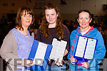 Frances Flaherty (Caheranne Village, (Tralee), Orla O'Connor (Fenit) and Treasa Flahive, (The Spa, Tralee), pictured at the Monster Bingo, at Mercy Mounthawk Secondary School, Tralee on Sunday.
