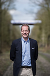 Tour Director Christian Prudhomme ASO at the Trouee d'Arenberg during the reconaissance of the pave sectors before the 2018 Paris-Roubaix. 3rd April 2018.<br /> Picture: ASO/P.Ballet | Cyclefile<br /> <br /> <br /> All photos usage must carry mandatory copyright credit (&copy; Cyclefile | ASO/Pauline Ballet)
