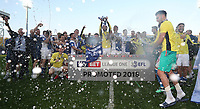 Blackburn Rovers lift the runners up cup and are officially promoted to the Championship<br /> <br /> Photographer Rachel Holborn/CameraSport<br /> <br /> The EFL Sky Bet League One - Blackburn Rovers v Oxford United - Saturday 5th May 2018 - Ewood Park - Blackburn<br /> <br /> World Copyright &copy; 2018 CameraSport. All rights reserved. 43 Linden Ave. Countesthorpe. Leicester. England. LE8 5PG - Tel: +44 (0) 116 277 4147 - admin@camerasport.com - www.camerasport.com