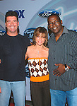 American Idol Judges Simon Cowell, Paula Abdul and Randy Jackson at party to celebrate the American Idol Top 12 Finalists at Pearl in Hollywood.