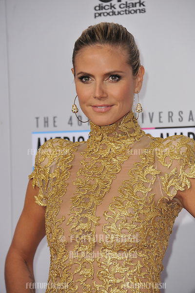 Heidi Klum at the 40th Anniversary American Music Awards at the Nokia Theatre LA Live..November 18, 2012  Los Angeles, CA.Picture: Paul Smith / Featureflash