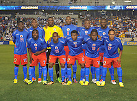 Haiti starting elven.  Honduras defeated Haiti 2-0 in the first round of the CONCACAF Gold Cup, at Red Bull Arena, Monday July 8 , 2013.