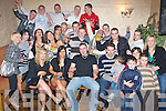 KEY TO THE DOOR: Mossie O'Connor, Curraheen (seated centre), having a great time with family and friends at his 21st birthday party held in the Greyhound Bar on Saturday night.   Copyright Kerry's Eye 2008