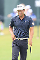 Hideto Tanihara (JPN) on the 18th green during Friday's Round 2 of the 2017 PGA Championship held at Quail Hollow Golf Club, Charlotte, North Carolina, USA. 11th August 2017.<br /> Picture: Eoin Clarke | Golffile<br /> <br /> <br /> All photos usage must carry mandatory copyright credit (&copy; Golffile | Eoin Clarke)