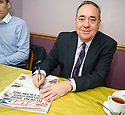 First Minister Alex Salmond puts his message on the front page of the Scottish Sun.