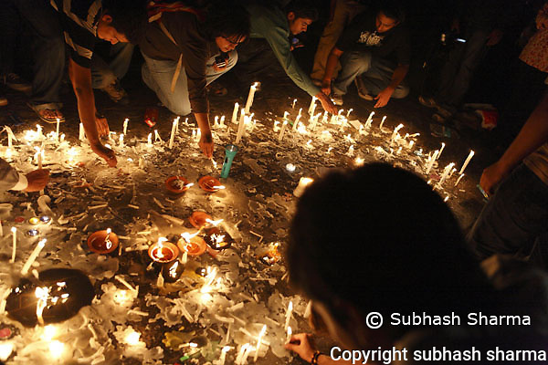 Mumbai blasts candle light vigil and protests