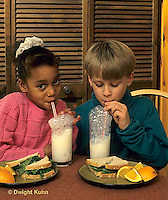 BH22-056x  Bubbles - children blowing bubbles in milk