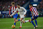 Atletico de Madrid's Antoine Griezmann Real Madrid's Mateo Kovacic  during the match of La Liga between Atletico de Madrid and Real Madrid at Vicente Calderon Stadium  in Madrid , Spain. November 19, 2016. (ALTERPHOTOS/Rodrigo Jimenez)