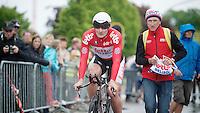 Tour of Belgium 2013.stage 3: iTT..André Greipel (DEU) just finished his TT, carer Marc Van Gyseghem awaiting him