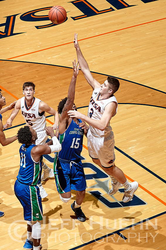 SAN ANTONIO, TX - NOVEMBER 24, 2017: The University of Texas at San Antonio Roadrunners defeat the Texas A&M University-Corpus Christi Islanders 72-58 at the UTSA Convocation Center. (Photo by Jeff Huehn)