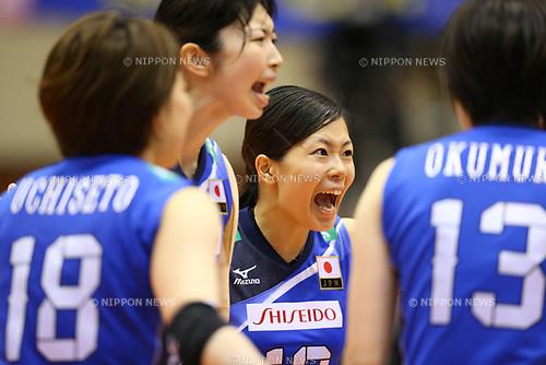 Miya Sato (JPN), <br /> JULY 16, 2017 - Volleyball : FIVB Volleyball World Grand Prix SENDAI 2017 match between <br /> Brazil 2-3 Japan  <br /> at Kamei Arena Sendai, in Sendai, Japan. <br /> (Photo by Sho Tamura/AFLO)