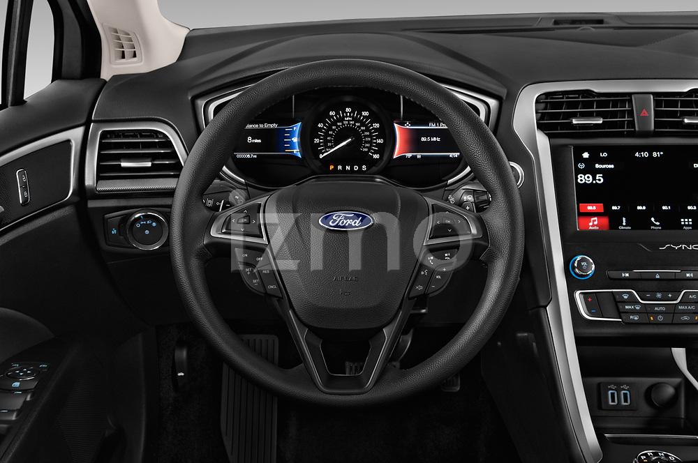 Car pictures of steering wheel view of a 2019 Ford Fusion SE 4 Door Sedan Steering Wheel