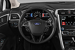 Car pictures of steering wheel view of a 2019 Ford Fusion SE 4 Door Sedan Steering Wheel