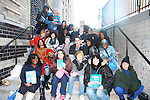 David Gregory and Austin WIlliams and fans with OLTL books given to them on the last day of shooting of The Soap Opera One Life To Live at the One Life To Live Studio on November 18, 2011, New York City, New York. (Photo by Sue Coflin/Max Photos)
