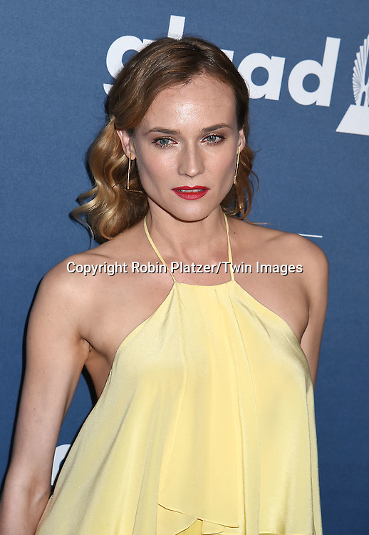 Diane Kruger attends the 27th Annual GLAAD Media Awards on May 14, 2016 at the Waldorf Astoria Hotel in New York City, New York, USA.<br /> <br /> photo by Robin Platzer/Twin Images<br />  <br /> phone number 212-935-0770