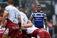 Semesa Rokoduguni of Bath Rugby looks on. Gallagher Premiership match, between Bath Rugby and Northampton Saints on September 22, 2018 at the Recreation Ground in Bath, England. Photo by: Patrick Khachfe / Onside Images