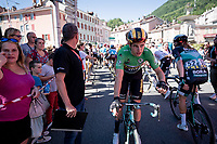 Wout van Aert (BEL/Jumbo-Visma) wins his 2nd stage in this Dauphiné; after the TT the day before, the bunch sprint today... what a rise to the top!<br /> <br /> Stage 5: Boën-sur-Lignon to Voiron (201km)<br /> 71st Critérium du Dauphiné 2019 (2.UWT)<br /> <br /> ©kramon
