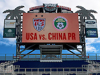 BOCA RATON, FL - DECEMBER 15, 2012: FAU stadium before  an international friendly match between the USA WNT and China WNT at FAU Stadium, in Boca Raton, Florida, on Saturday, December 15, 2012.