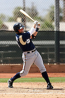 Brett Carroll of the Milwaukee Brewers plays in a spring training game against the Los Angeles Dodgers at the Brewers complex on April 2, 2011 in Phoenix, Arizona. .Photo by:  Bill Mitchell/Four Seam Images.