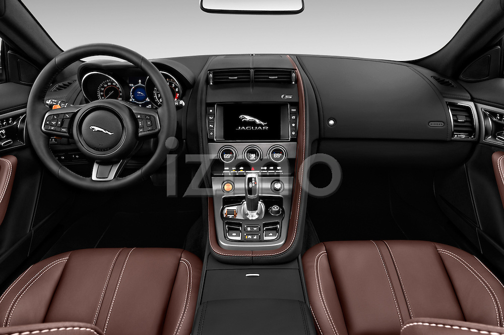 Stock photo of straight dashboard view of 2017 Jaguar F-TYPE S-Convertible 2 Door Convertible Dashboard