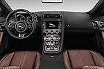Stock photo of straight dashboard view of 2017 Jaguar F-TYPE S-Convertible 2 Door Convertible Dashboard