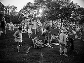 Crowds gather at Oronoco Bay Park for the 267th birthday celebration of  the city of Alexandria, Virginia.