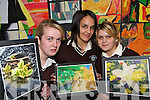 PICTURE PERFECT: Students from Abbeyfeale Vocational School who took part in a Multiple Intelligence Learning Project at the school..L/r. Jennifer Scanlon (Athea), Roisin Anderson (Abbeyfeale) and Bromwyn Anderson (Abbeyfeale).   Copyright Kerry's Eye 2008