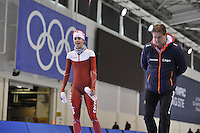 SPEED SKATING: SALT LAKE CITY: 18-11-2015, Utah Olympic Oval, ISU World Cup, training, Marrit Leenstra (NED), Peter Kolder (trainer/coach Team Corendon), ©foto Martin de Jong