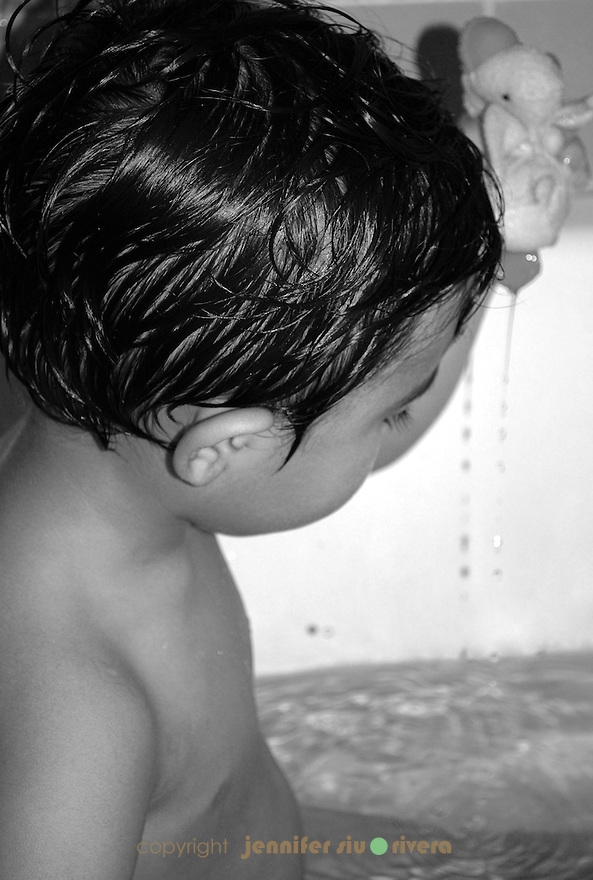toddler portrait - bath time