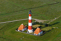 Leuchtturm Westerhever: EUROPA, DEUTSCHLAND, SCHLESWIG-HOLSTEIN, (EUROPE, GERMANY), 20.06.2005:Schleswig Holstein , Nordfriesland , Westerhever Leuchtturm auf der Halbinsel Eiderstedt , coast, Deich, Deiche, Deichland, dike, dikes, dyke, Eiderstedt, Erholung, ferien, Flachland, Haeuser, Halbinsel, Haus, Holstein, house, houses, Insel, isle, Kueste, laendlich, landscape, landscapes, Landschaft, Landschaften, Leuchttuerme, Leuchtturm, lighthouse, Leuchtfeuer, lighthouses, natuerlich, Natur, nature, Nord, Norddeutschland, Norden, Nordfriesland, nordisch, Nordsee, north, north frisia, north sea, Orte, peninsula, recreation, Reise, reisen, Schleswig, Schleswig Holstein, tourism, Tourismus, travel, Tuerme, Turm, Urlaub, wadden sea, Watt, Wattenmeer, Westerhever, Luftbild, Luftansicht, Luftaufnahme, Nationalpark, Schifffahrtszeichen, rot weiss,  ..c o p y r i g h t : A U F W I N D - L U F T B I L D E R . de.G e r t r u d - B a e u m e r - S t i e g  1 0 2,  .2 1 0 3 5  H a m b u r g ,  G e r m a n y.P h o n e  + 4 9  (0) 1 7 1 - 6 8 6 6 0 6 9 .E m a i l      H w e i 1 @ a o l . c o m.w w w . a u f w i n d - l u f t b i l d e r . d e.K o n t o : P o s t b a n k    H a m b u r g .B l z : 2 0 0 1 0 0 2 0  .K o n t o : 5 8 3 6 5 7 2 0 9.C  o p y r i g h t   n u r   f u e r   j o u r n a l i s t i s c h  Z w e c k e, keine  P e r s o e n  l i c h ke i t s r e c h t e   v o r  h a n d e n,  V e r o e f f e n t l i c h u n g  n u r    m i t  H o n o r a r  n a c h  MFM, N a m e n s n e n n u n g und B e l e g e x e m p l a r !.