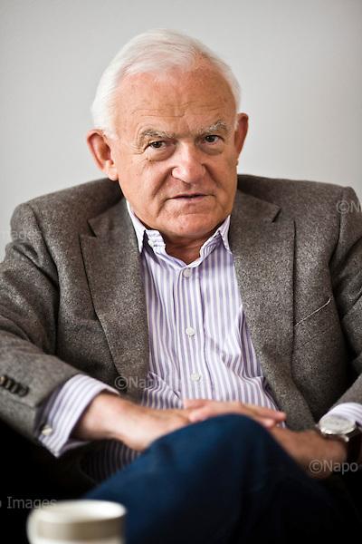 Warsaw, 02 July 2014, Poland<br /> Leszek Cezary Miller  is a Polish left-wing politician, a many-year leader of the Democratic Left Alliance, Prime Minister of the government of the Republic of Poland in 2001-2004.<br />  &copy; Filip Cwik / Napo Images<br /> <br /> Warszawa 02 lipiec 2014 Polska.<br /> Leszek  Miller polski polityk, dzialacz Polskiej Zjednoczonej Partii Robotniczej, inicjator powolania i lider SLD oraz Polskiej Lewicy, byly minister pracy i polityki socjalnej, byly minister-szef Urzedu Rady Ministrow, byly minister spraw wewnetrznych i administracji, Prezes Rady Ministrow w latach 2001-2004.<br />  &copy; Filip Cwik / Napo Images