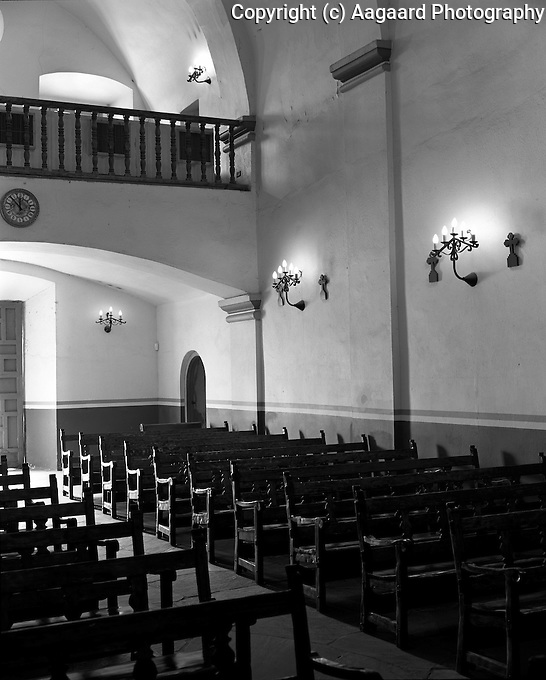 Mission Concepcion interior, San Antonio, Texas.<br /> <br /> Mamiya RB67 Pro SD, 65mm lens, Kodak TMAX 400 film